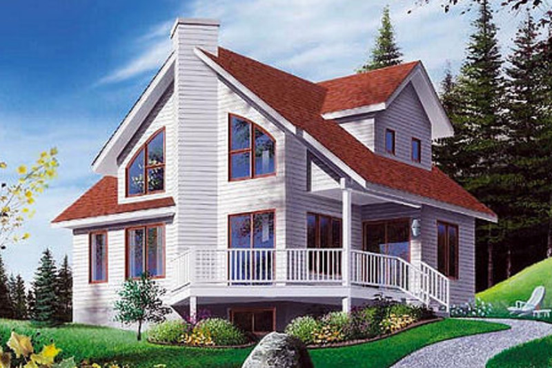 Country Exterior - Front Elevation Plan #23-2030 - Houseplans.com