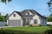 Ranch Style House Plan - 3 Beds 2 Baths 1858 Sq/Ft Plan #20-2312 Exterior - Front Elevation
