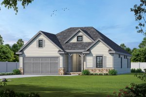 Ranch Exterior - Front Elevation Plan #20-2312