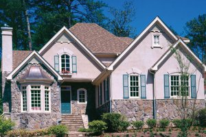 Cottage Exterior - Front Elevation Plan #429-11