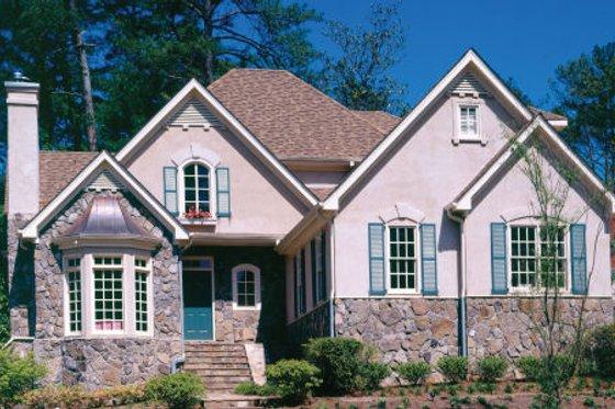 Cottage Exterior - Front Elevation Plan #429-11