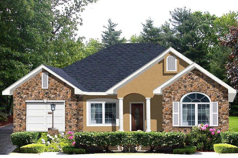 Home Plan - European Exterior - Front Elevation Plan #44-131