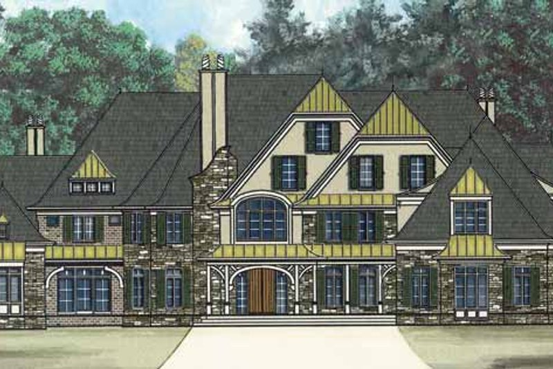 Country Exterior - Front Elevation Plan #119-403 - Houseplans.com