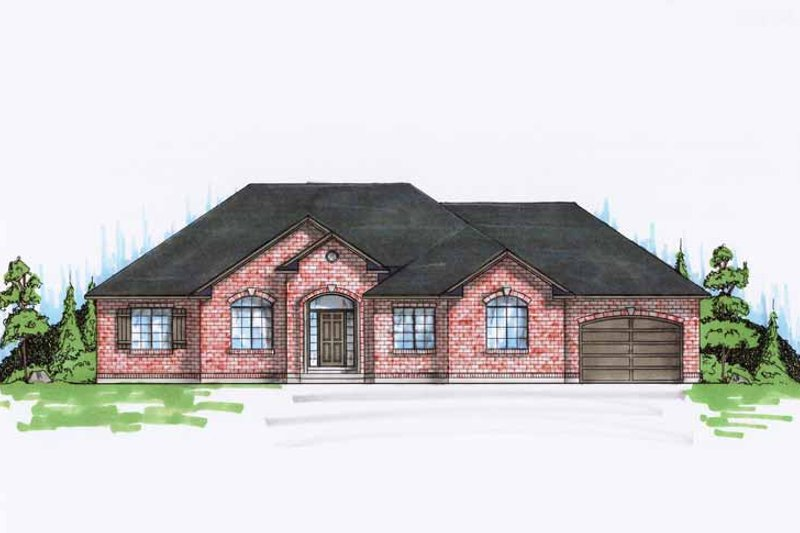 Traditional Exterior - Front Elevation Plan #945-89 - Houseplans.com