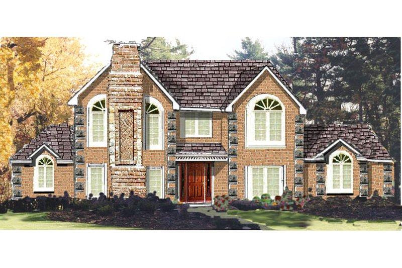 Architectural House Design - European Exterior - Front Elevation Plan #3-200