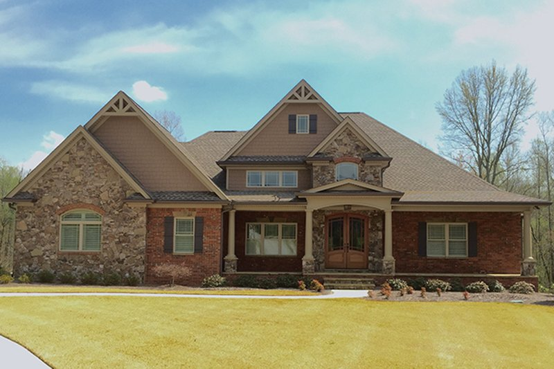 Traditional Exterior - Front Elevation Plan #437-73 - Houseplans.com