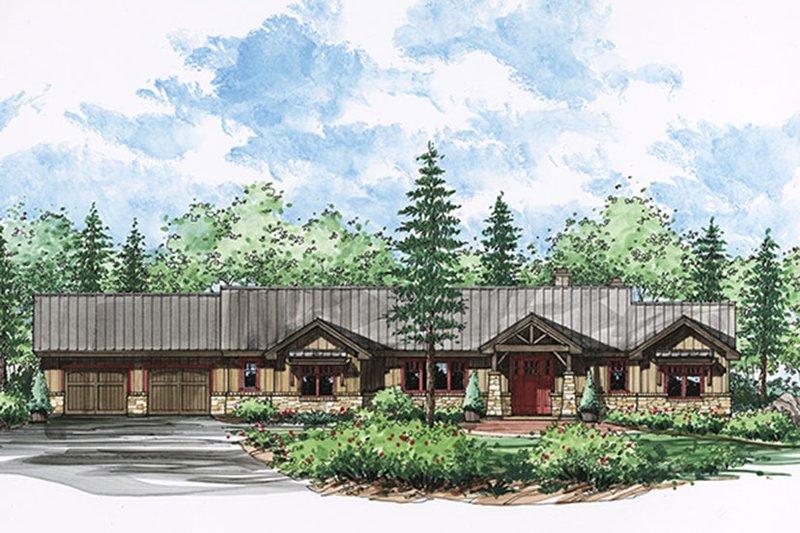 Craftsman Exterior - Front Elevation Plan #935-15 - Houseplans.com
