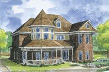 Dream House Plan - Victorian Exterior - Front Elevation Plan #410-408