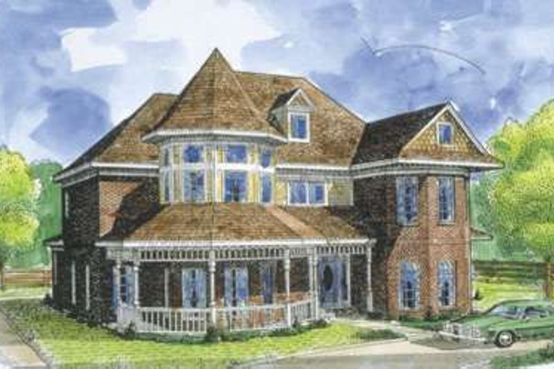 Victorian Exterior - Front Elevation Plan #410-408