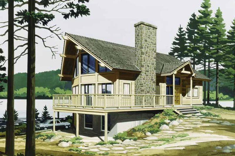 Contemporary Exterior - Front Elevation Plan #320-819