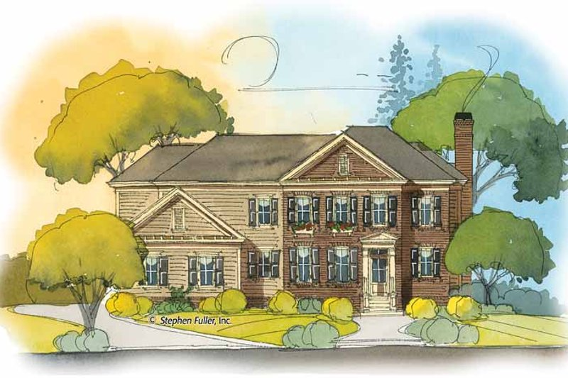 Colonial Exterior - Front Elevation Plan #429-410 - Houseplans.com