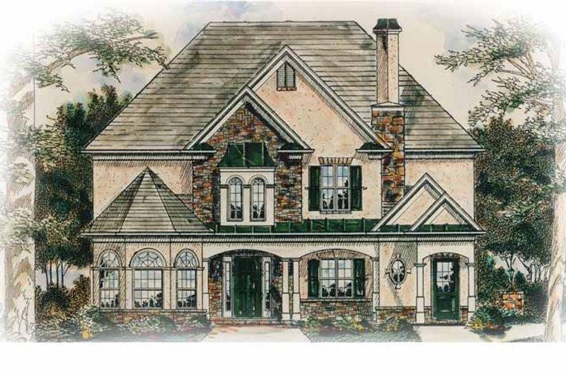 Home Plan - European Exterior - Front Elevation Plan #54-244
