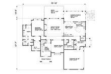 Traditional Floor Plan - Main Floor Plan Plan #30-345