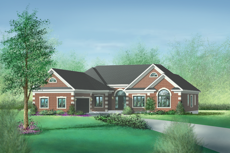 Traditional Style House Plan - 4 Beds 2.5 Baths 2585 Sq/Ft Plan #25-149 Exterior - Front Elevation