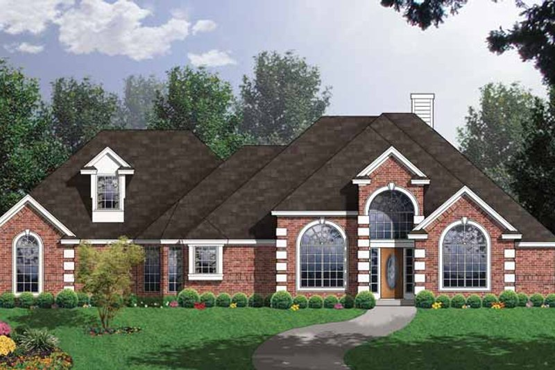 Traditional Exterior - Front Elevation Plan #40-481 - Houseplans.com