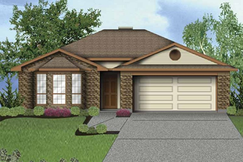 Traditional Exterior - Front Elevation Plan #84-750 - Houseplans.com