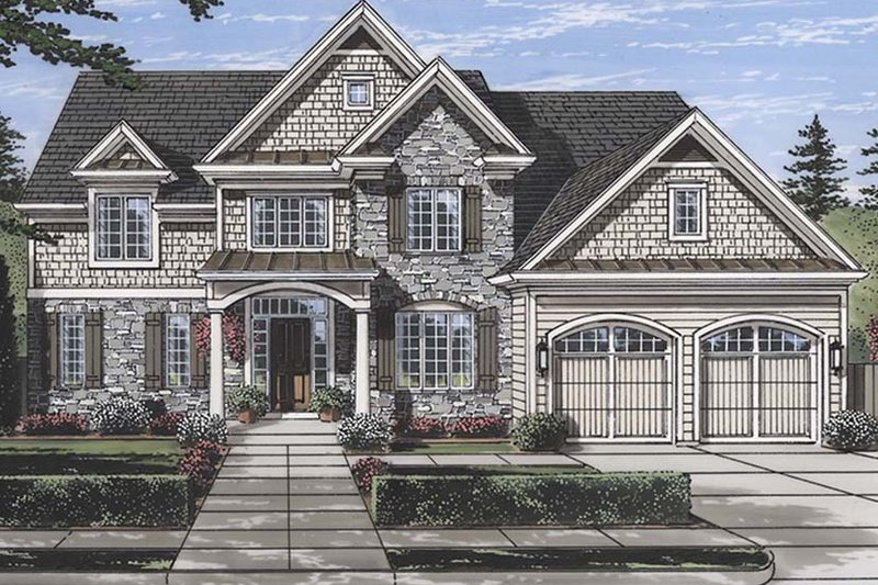 House Plan Design - Traditional Exterior - Front Elevation Plan #46-861