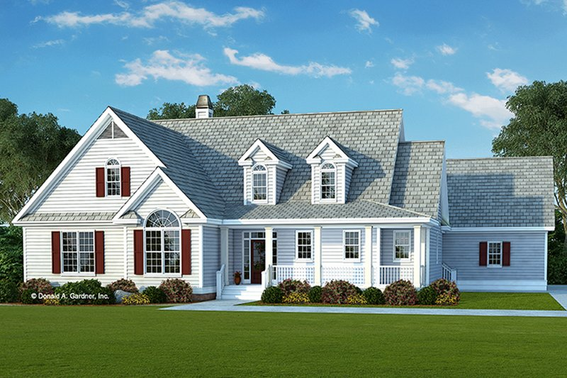 Country Exterior - Front Elevation Plan #929-961