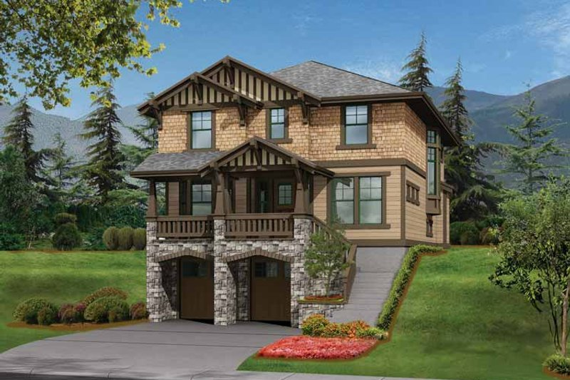 Craftsman Exterior - Front Elevation Plan #132-242