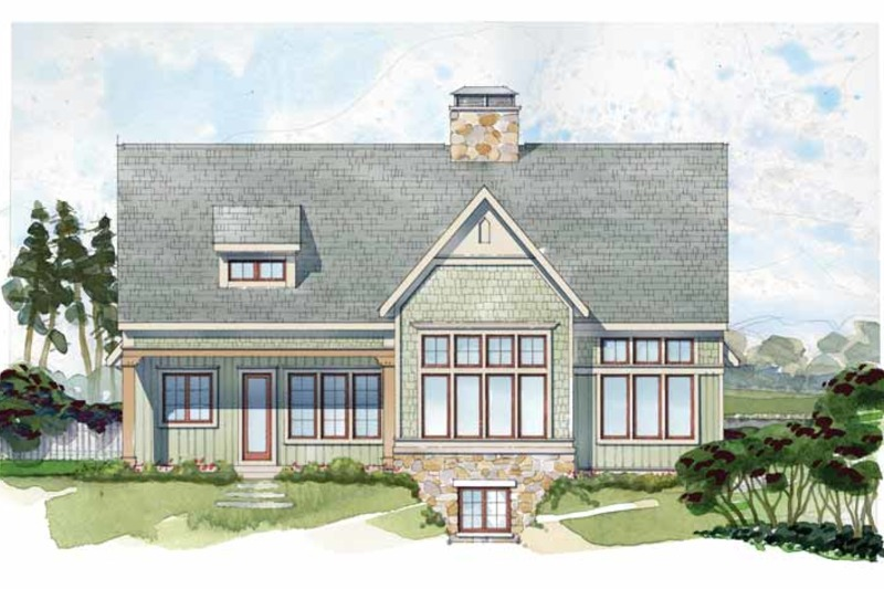 Craftsman Exterior - Rear Elevation Plan #928-230 - Houseplans.com