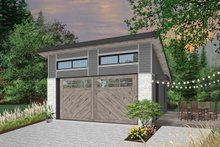 House Plan Design - Contemporary Exterior - Front Elevation Plan #23-2635