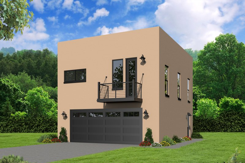 Dream House Plan - Contemporary Exterior - Front Elevation Plan #932-293