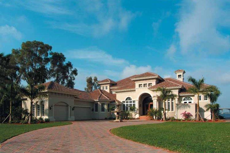 House Plan Design - Mediterranean Exterior - Front Elevation Plan #930-317