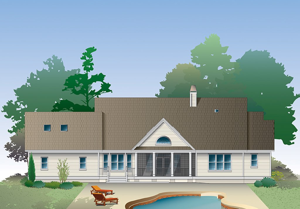 Country Style House Plan - 3 Beds 2.5 Baths 2262 Sq/Ft
