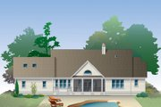 Country Style House Plan - 3 Beds 2.5 Baths 2262 Sq/Ft Plan #929-976 Exterior - Rear Elevation