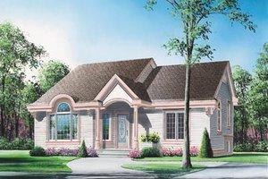 Cottage Exterior - Front Elevation Plan #23-141