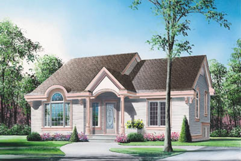 Cottage Exterior - Front Elevation Plan #23-141