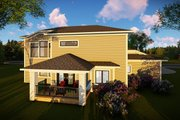 Contemporary Style House Plan - 3 Beds 2.5 Baths 2777 Sq/Ft Plan #70-1496 Exterior - Rear Elevation