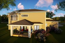 House Plan Design - Contemporary Exterior - Rear Elevation Plan #70-1496