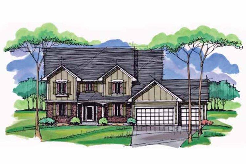 Colonial Exterior - Front Elevation Plan #51-1006 - Houseplans.com