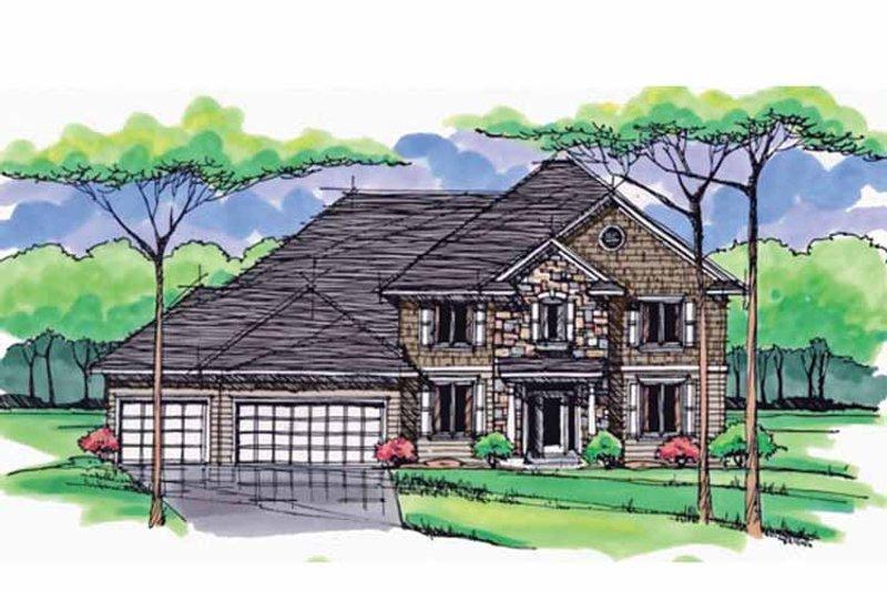 Craftsman Exterior - Front Elevation Plan #51-1032 - Houseplans.com