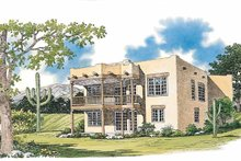 Home Plan - Adobe / Southwestern Exterior - Rear Elevation Plan #72-1049