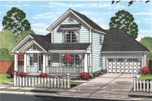 Dream House Plan - Traditional Exterior - Front Elevation Plan #513-2096