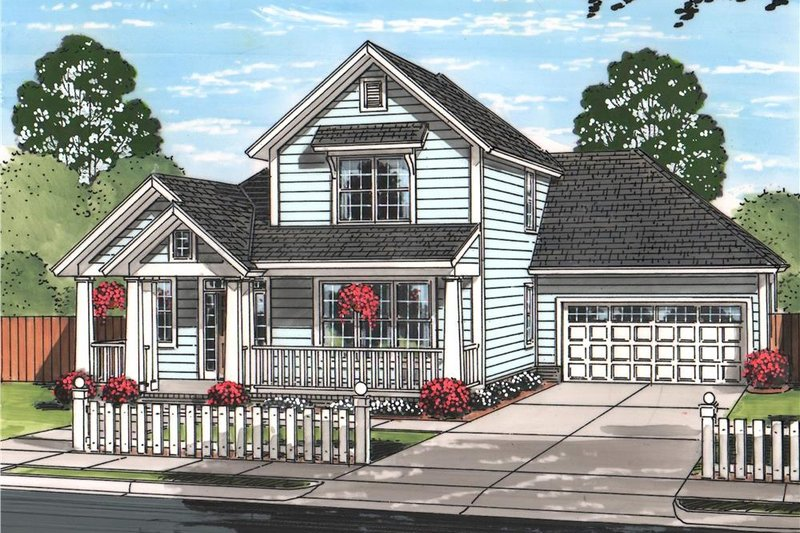 Home Plan Design - Traditional Exterior - Front Elevation Plan #513-2096