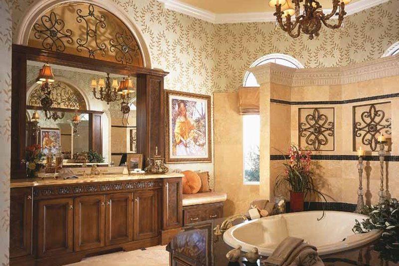 Mediterranean Interior - Bathroom Plan #930-92 - Houseplans.com