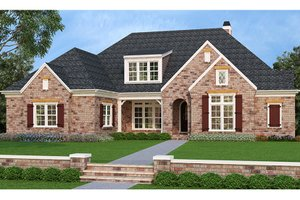 European Exterior - Front Elevation Plan #927-400