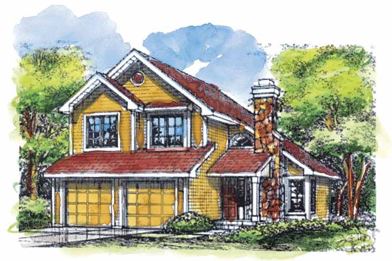 Bungalow Exterior - Front Elevation Plan #320-625