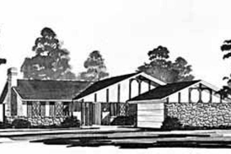 Ranch Exterior - Front Elevation Plan #36-370 - Houseplans.com