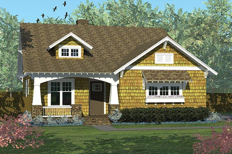 Architectural House Design - Craftsman Exterior - Front Elevation Plan #453-613