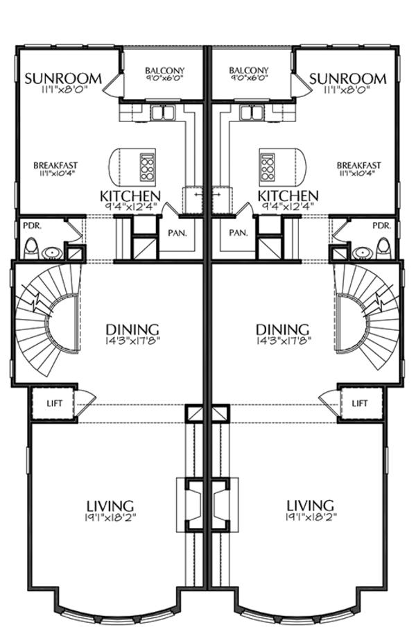Mediterranean Floor Plan - Upper Floor Plan Plan #1021-16