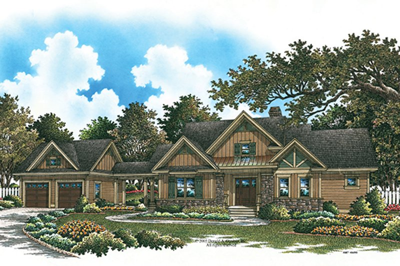Craftsman Exterior - Front Elevation Plan #929-933