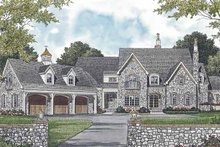House Plan Design - European Exterior - Front Elevation Plan #453-592