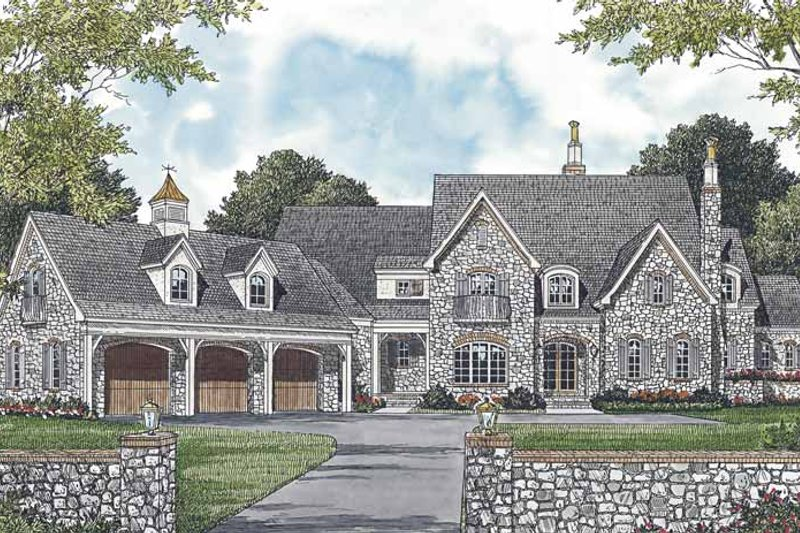 Dream House Plan - European Exterior - Front Elevation Plan #453-592
