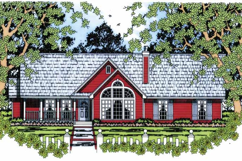 Dream House Plan - Ranch Exterior - Front Elevation Plan #42-599