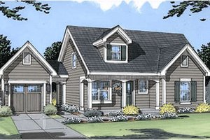 Cottage Exterior - Front Elevation Plan #46-318