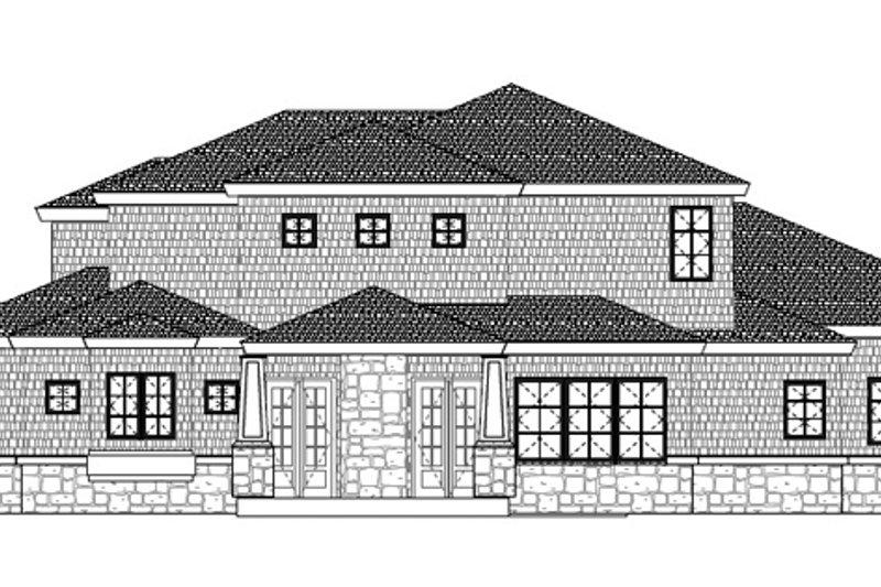 Colonial Exterior - Rear Elevation Plan #937-35 - Houseplans.com
